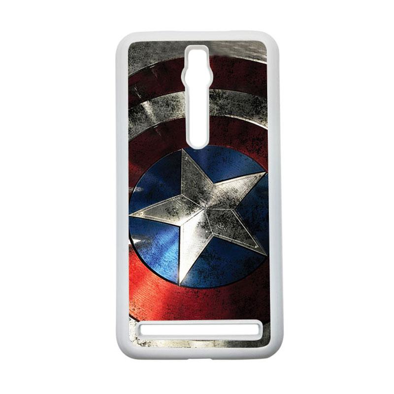 HEAVENCASE Captain America 06 Hardcase Casing for Asus Zenfone 2 ZE551ML or ZE550ML - Putih