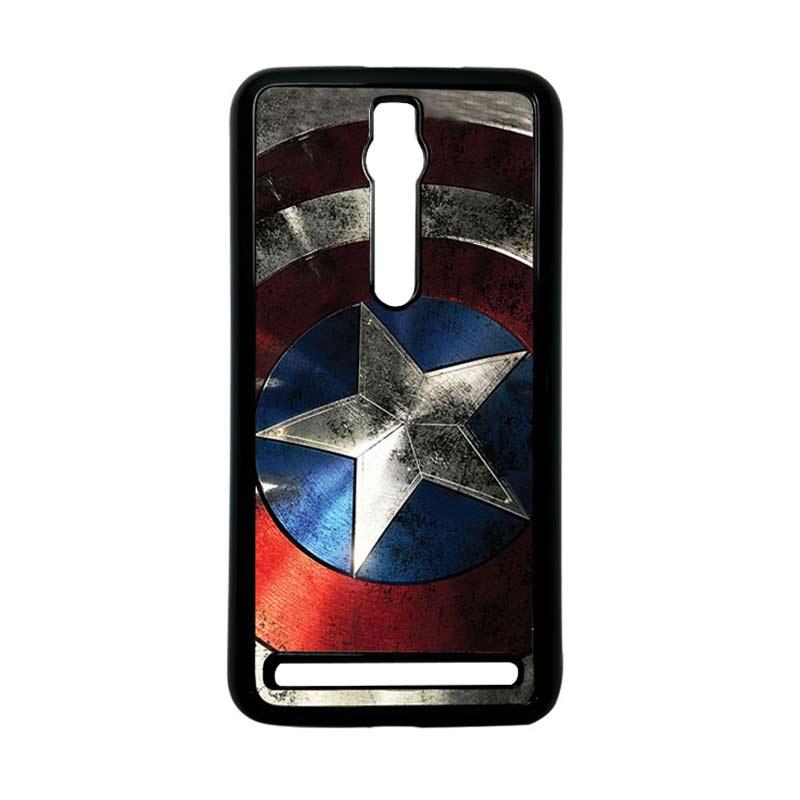 Heavencase Captain America 06 Hitam Hardcase Casing for Asus Zenfone 2 Ze551ML or ZE550ML