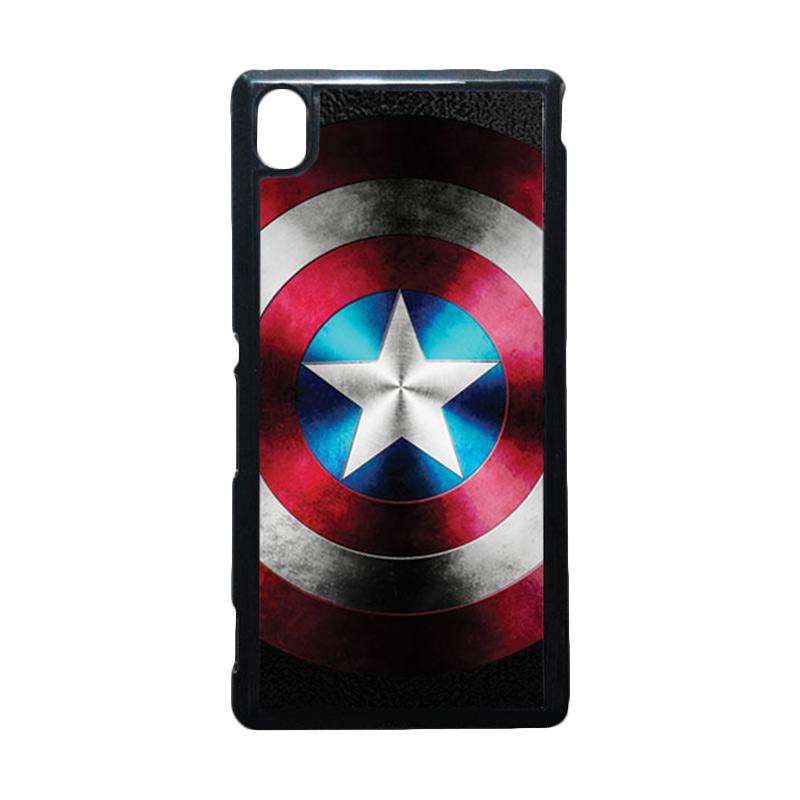 harga HEAVENCASE Captain America 07 Hitam Hardcase Casing for Sony Xperia M4 Aqua Blibli.com