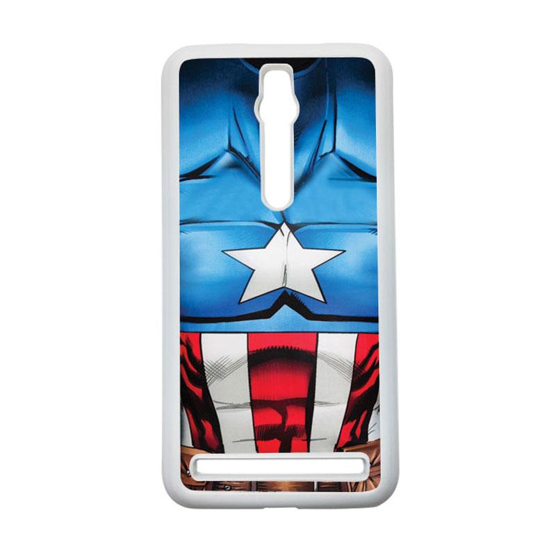 HEAVENCASE Captain America 08 Hardcase Casing for Asus Zenfone 2 Ze551ml or Ze550ml - Putih