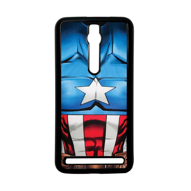 Heavencase Captain America 08 Hitam Hardcase Casing for Asus Zenfone 2 Ze551ML or ZE550ML