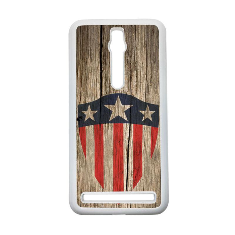 HEAVENCASE Captain America 10 Hardcase Casing for Asus Zenfone 2 ZE551ML or ZE550ML - Putih