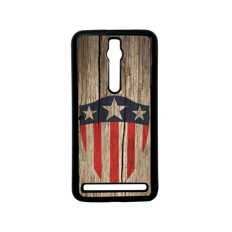 Heavencase Captain America 10 Hitam Hardcase Casing for Asus Zenfone 2 Ze551ml or Ze550ml