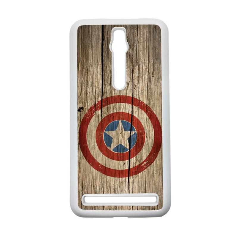 HEAVENCASE Captain America 11 Hardcase Casing for Asus Zenfone 2 Ze551ml or Ze550ml - Putih