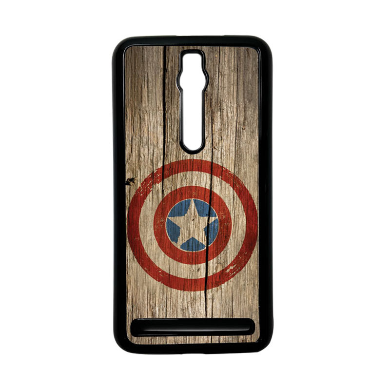 Heavencase Captain America 11 Hardcase Casing for Asus Zenfone 2 ZE551ML or ZE550ML - Hitam
