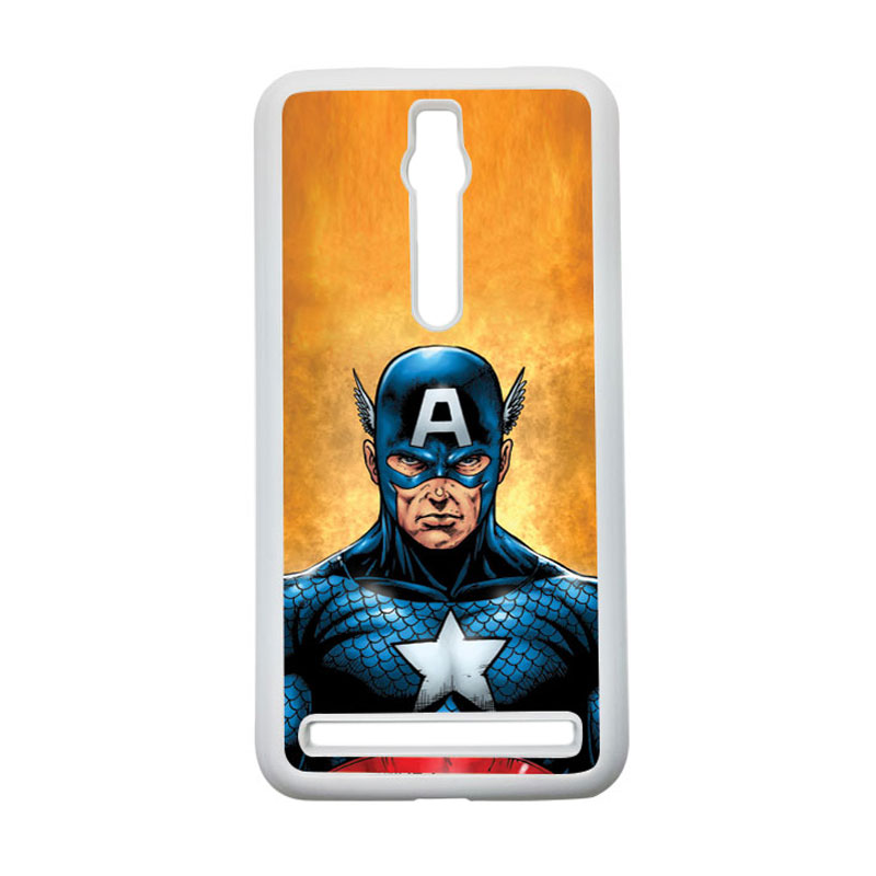 HEAVENCASE Captain America 14 Hardcase Casing for Asus Zenfone 2 ZE551ML or ZE550ML - Putih