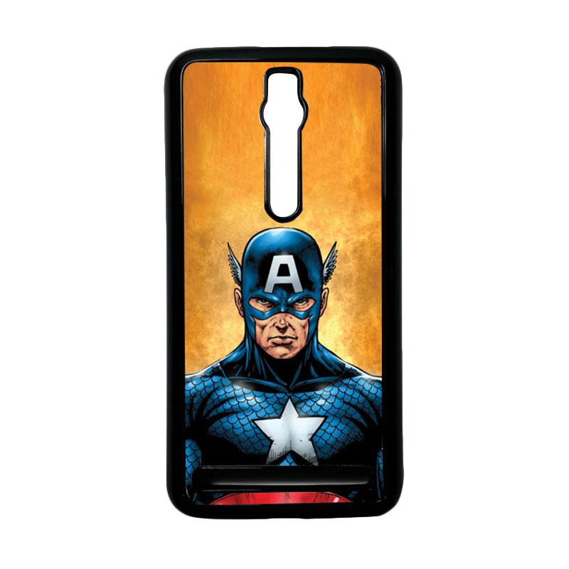 Heavencase Captain America 14 Hardcase Casing for Asus Zenfone 2 ZE551ML or ZE550ML - Hitam