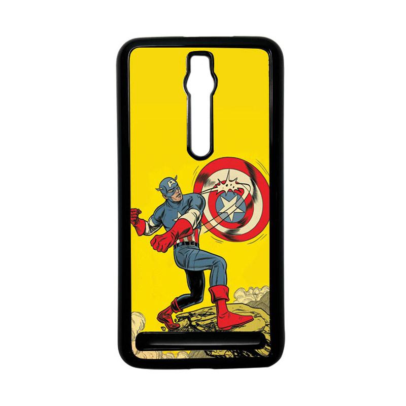 Heavencase Captain America 16 Hardcase Casing for Asus Zenfone 2 ZE551ML or ZE550ML - Hitam