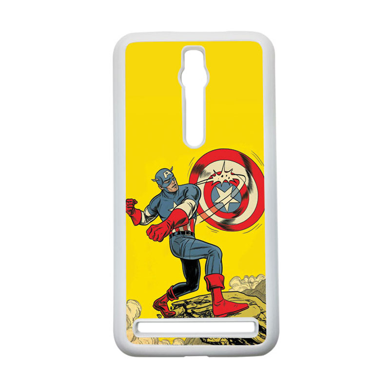HEAVENCASE Captain America 16 Hardcase Casing for Asus Zenfone 2 ZE551ML or ZE550ML - Putih