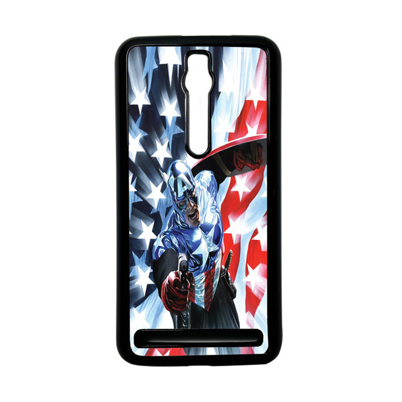 Heavencase Captain America 21 Hardcase Casing for Asus Zenfone 2 ZE551ML or ZE550ML - Hitam
