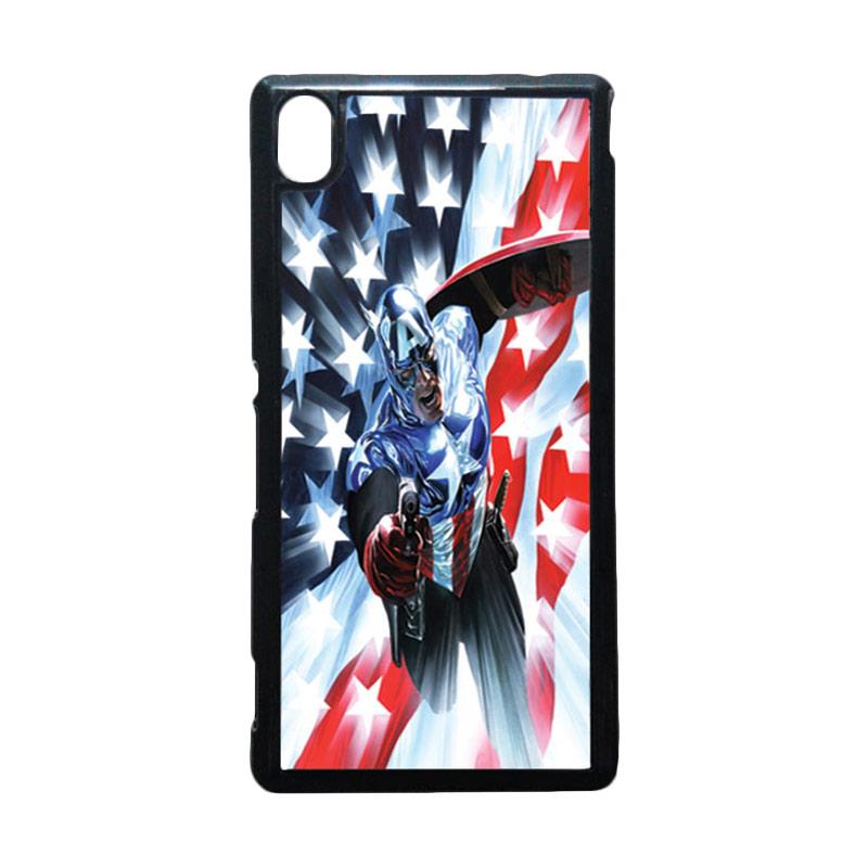 harga HEAVENCASE Captain America 21 Hitam Hardcase Casing for Sony Xperia M4 Aqua Blibli.com