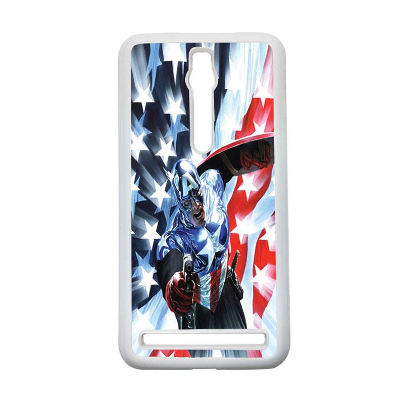 HEAVENCASE Captain America 21 Hardcase Casing for Asus Zenfone 2 ZE551ML or ZE550ML - Putih