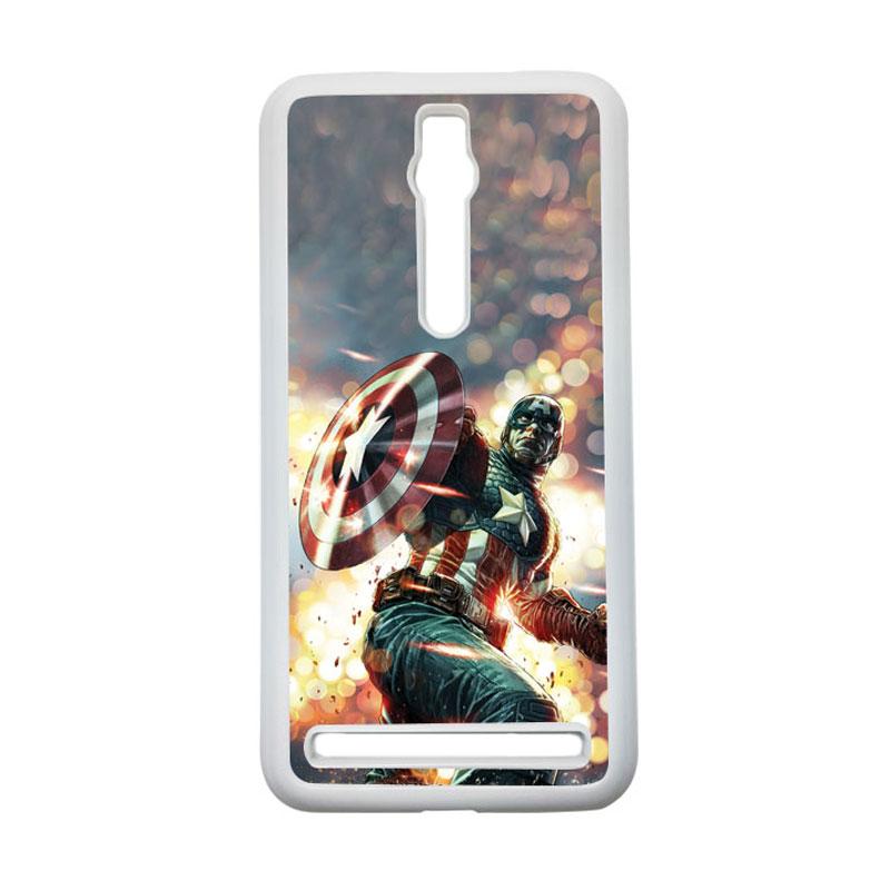 HEAVENCASE Captain America 22 Hardcase Casing for Asus Zenfone 2 ZE551ML or ZE550ML - Putih