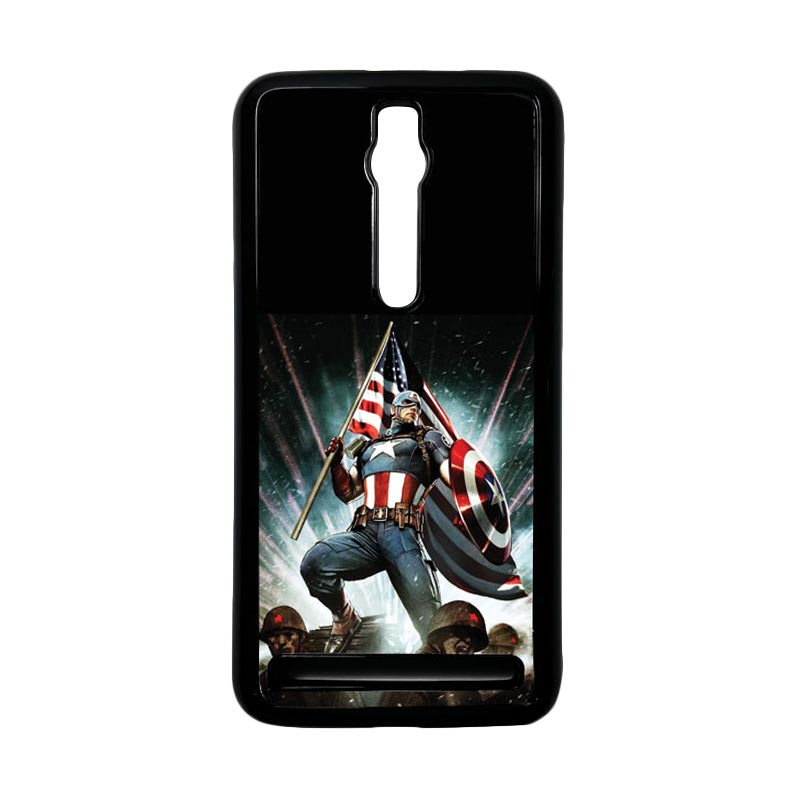 Heavencase Captain America 23 Hardcase Casing for Asus Zenfone 2 ZE551ML or ZE550ML - Hitam