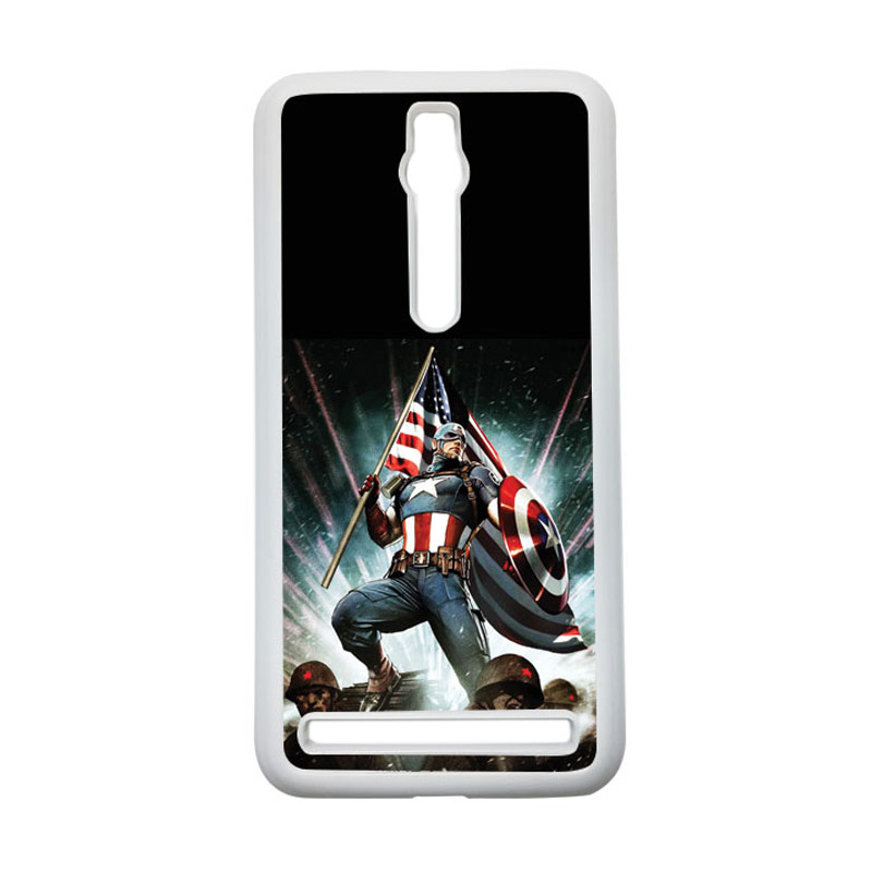 HEAVENCASE Captain America 23 Hardcase Casing for Asus Zenfone 2 ZE551ML or ZE550ML - Putih