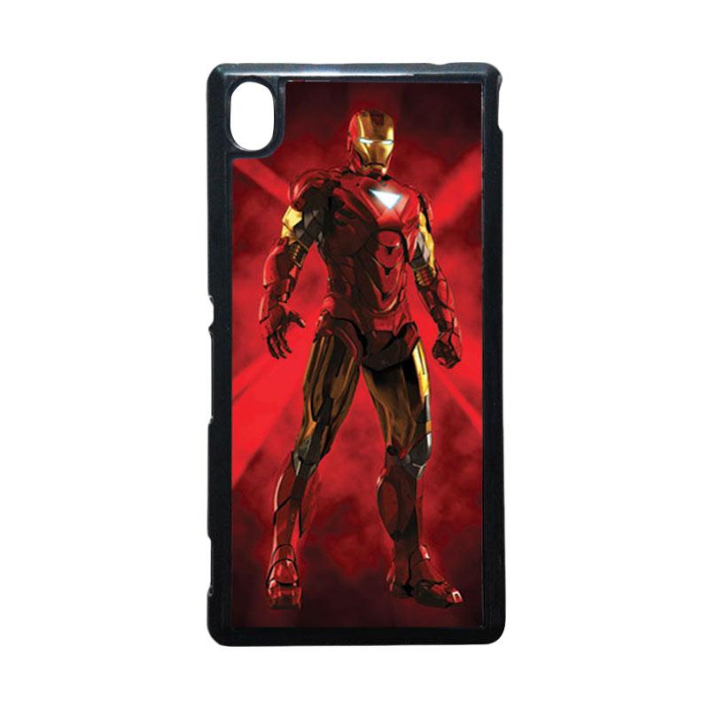 HEAVENCASE Captain Ironman 08 Hitam Hardcase Casing for Sony Xperia M4 Aqua