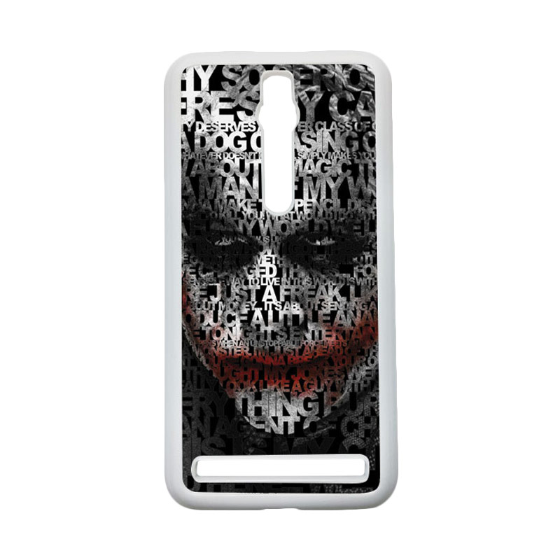 HEAVENCASE Joker 04 Hardcase Casing for Asus Zenfone 2 Ze551ml or Ze550ml - Putih