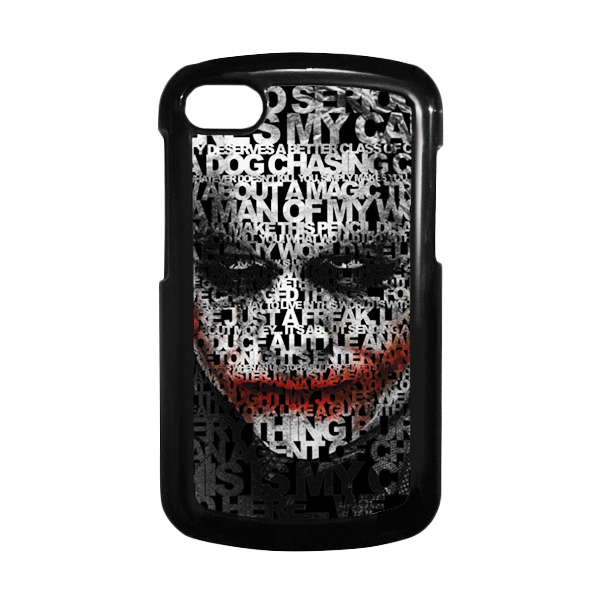 HEAVENCASE Joker 04 Hitam Hardcase Casing for Blackberry Q10