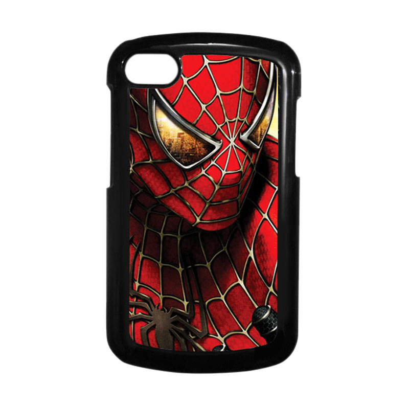 HEAVENCASE Spiderman 04 Hitam Hardcase Casing for Blackberry Q10