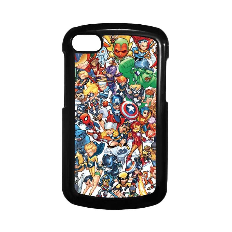HEAVENCASE Superhero Avengers 02 Hitam Hardcase Casing for Blackberry Q10