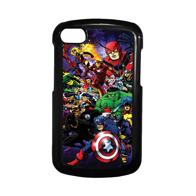 HEAVENCASE Superhero Avengers 03 Hitam Hardcase Casing for Blackberry Q10