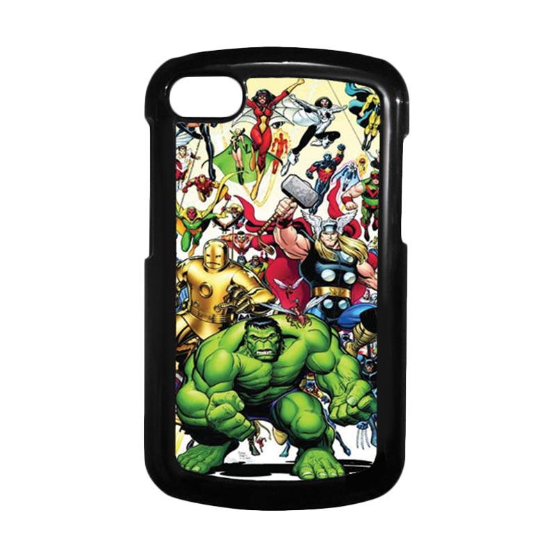 HEAVENCASE Superhero Avengers 04 Hitam Hardcase Casing for Blackberry Q10