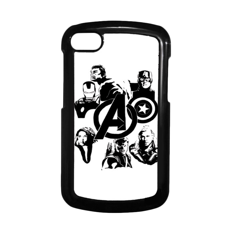 HEAVENCASE Superhero Avengers 06 Hitam Hardcase Casing for Blackberry Q10