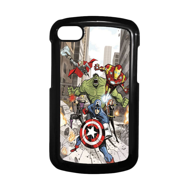 HEAVENCASE Superhero Avengers 08 Hitam Hardcase Casing for Blackberry Q10