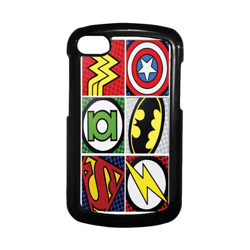 HEAVENCASE Superhero Logo Hitam Hardcase Casing for Blackberry Q10