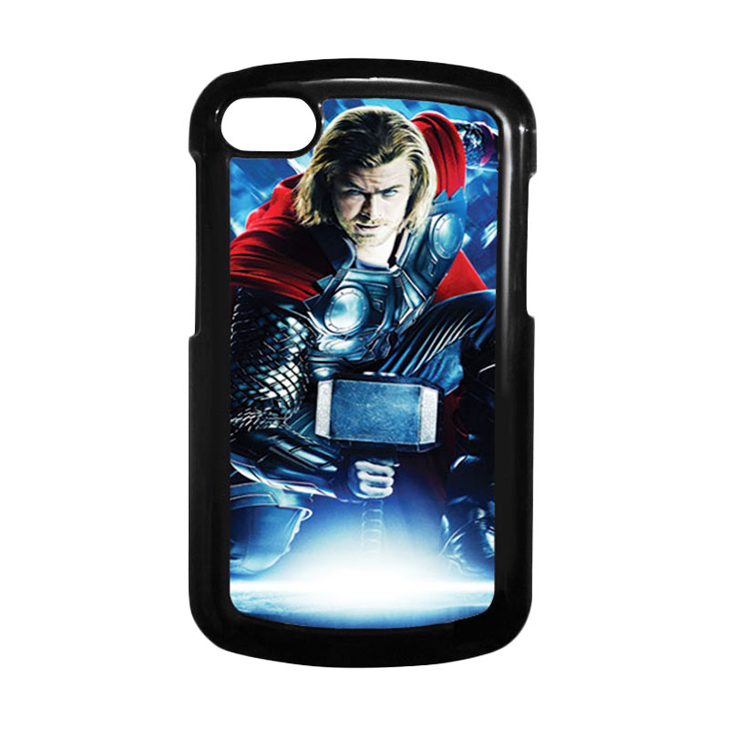 HEAVENCASE Superhero Thor 01 Hitam Hardcase Casing for Blackberry Q10