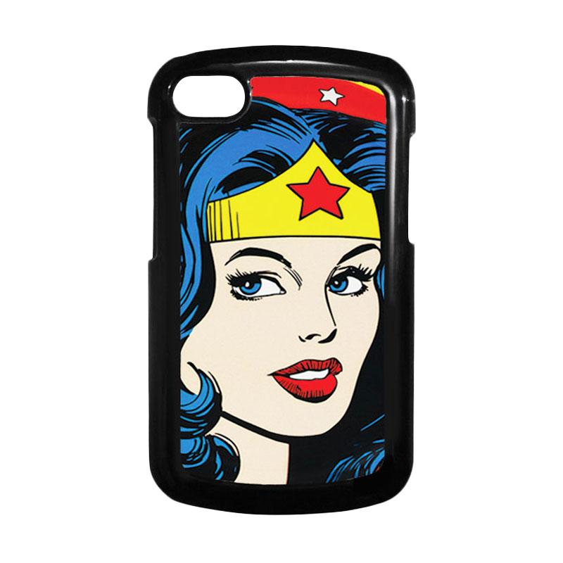 HEAVENCASE Superhero Wonder Woman 01 Hitam Hardcase Casing for Blackberry Q10