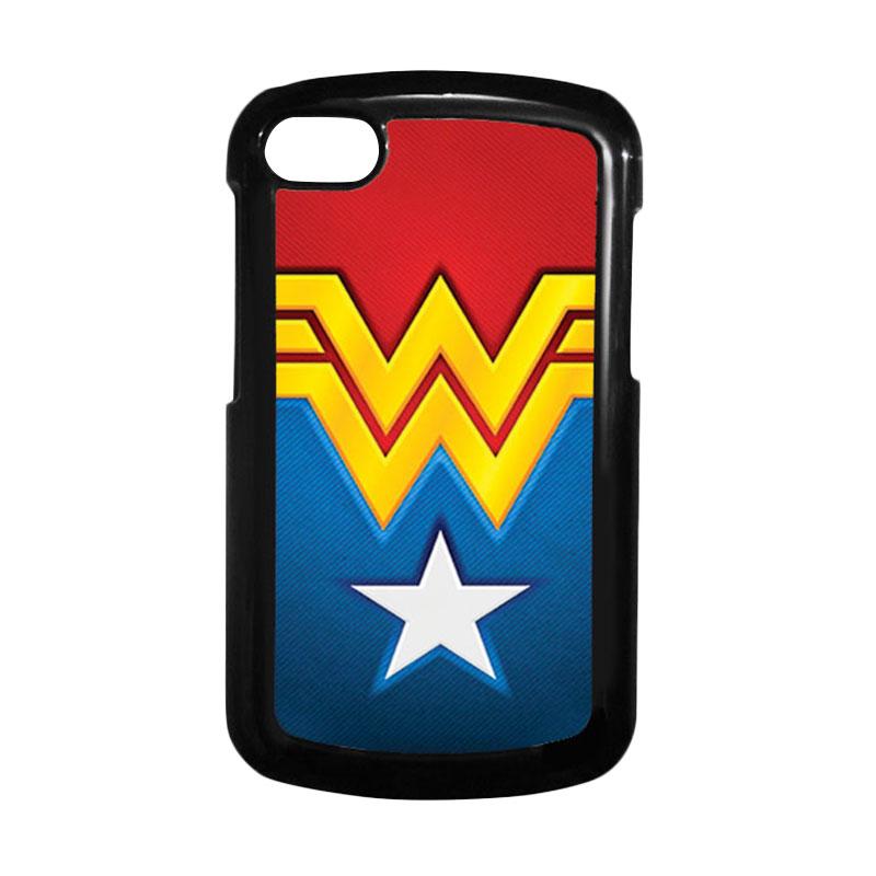 HEAVENCASE Superhero Wonder Woman 02 Hitam Hardcase Casing for Blackberry Q10