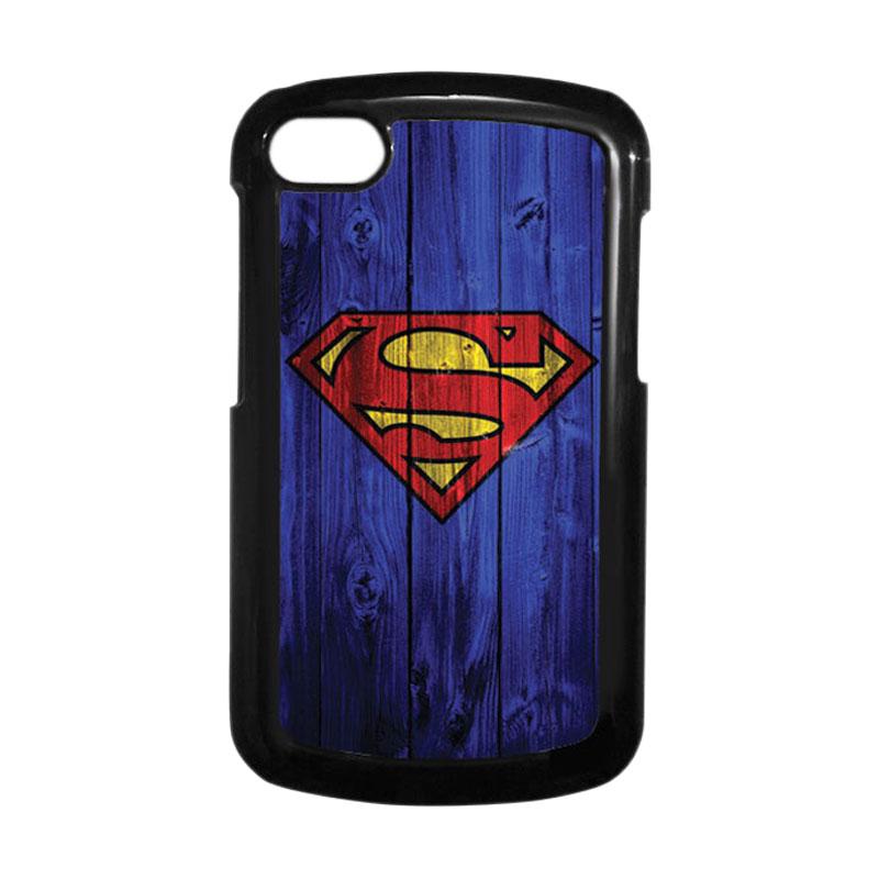 HEAVENCASE Superman 08 Hitam Hardcase Casing Blackberry for Q10