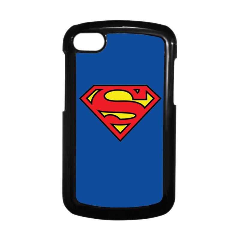 HEAVENCASE Superman 13 Hitam Hardcase Casing Blackberry for Q10