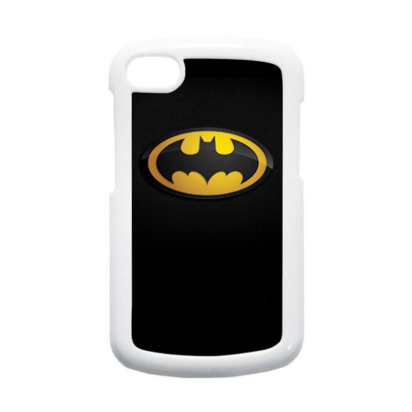 HEAVENCASE Batman 04 Putih Hardcase Casing Blackberry Q10