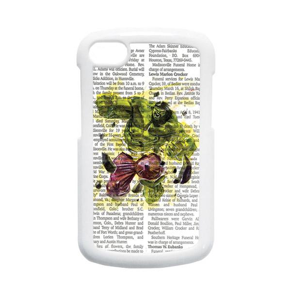 HEAVENCASE Hulk 04 Putih Hardcase Casing for Blackberry Q10