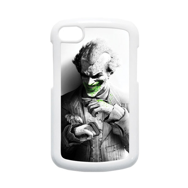 HEAVENCASE Joker 01 Putih Hardcase Casing for Blackberry Q10