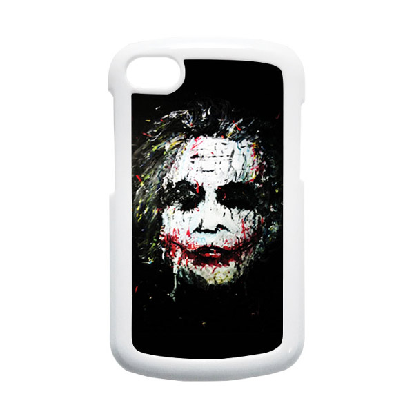 HEAVENCASE Joker 02 Putih Hardcase Casing for Blackberry Q10