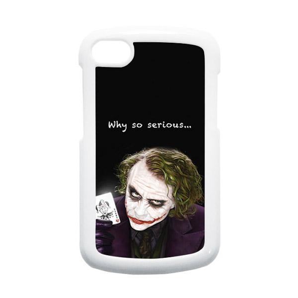 HEAVENCASE Joker 03 Putih Hardcase Casing for Blackberry Q10