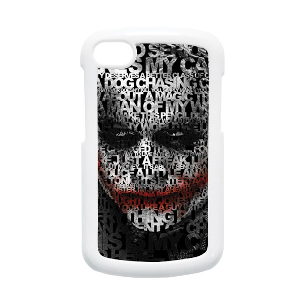HEAVENCASE Joker 04 Putih Hardcase Casing for Blackberry Q10