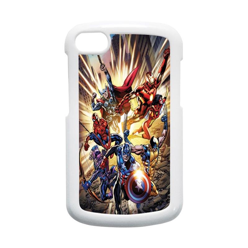 HEAVENCASE Superhero Avengers 01 Putih Hardcase Casing for Blackberry Q10