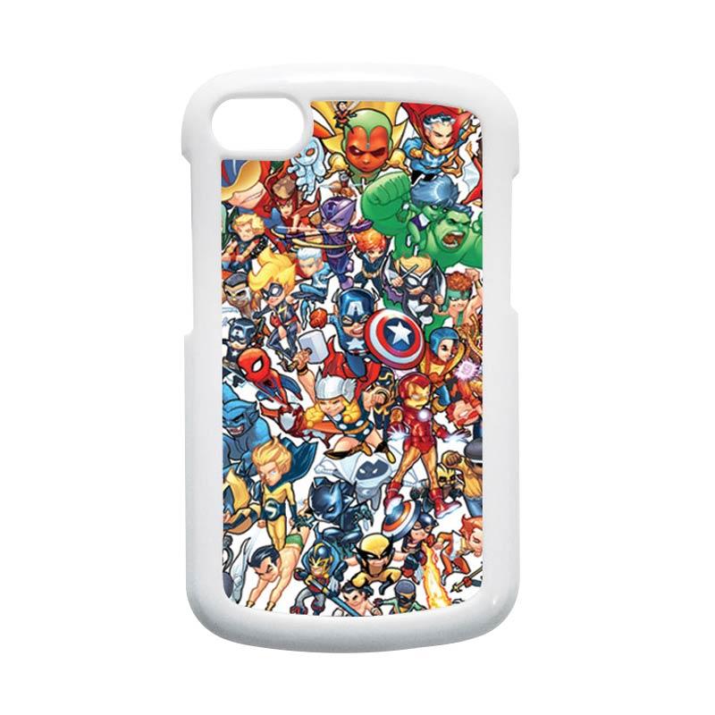 HEAVENCASE Superhero Avengers 02 Putih Hardcase Casing for Blackberry Q10
