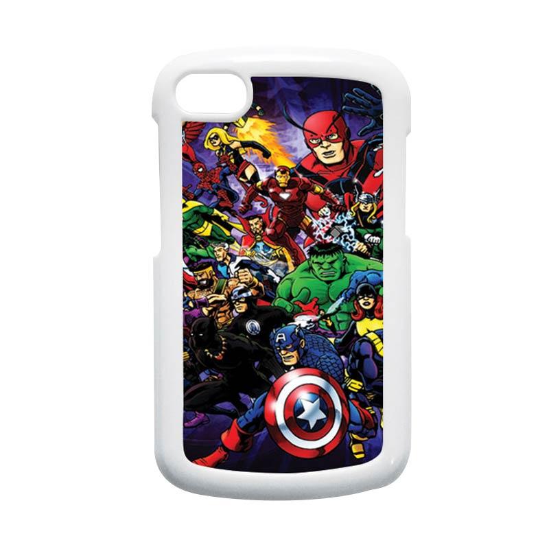 HEAVENCASE Superhero Avengers 03 Hardcase Putih Casing for Blackberry Q10