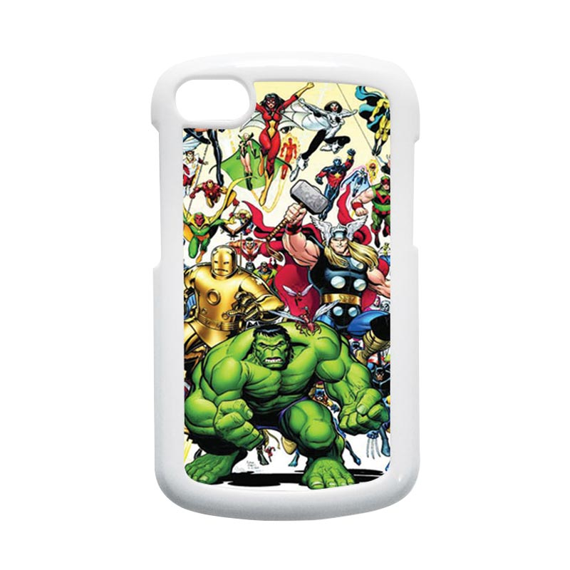 HEAVENCASE Superhero Avengers 04 Hardcase Putih Casing for Blackberry Q10