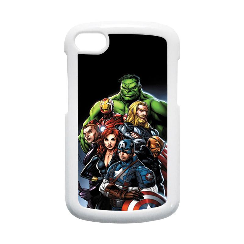 HEAVENCASE Superhero Avengers 05 Hardcase Putih Casing for Blackberry Q10