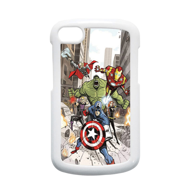 HEAVENCASE Superhero Avengers 08 Putih Hardcase Casing for Blackberry Q10