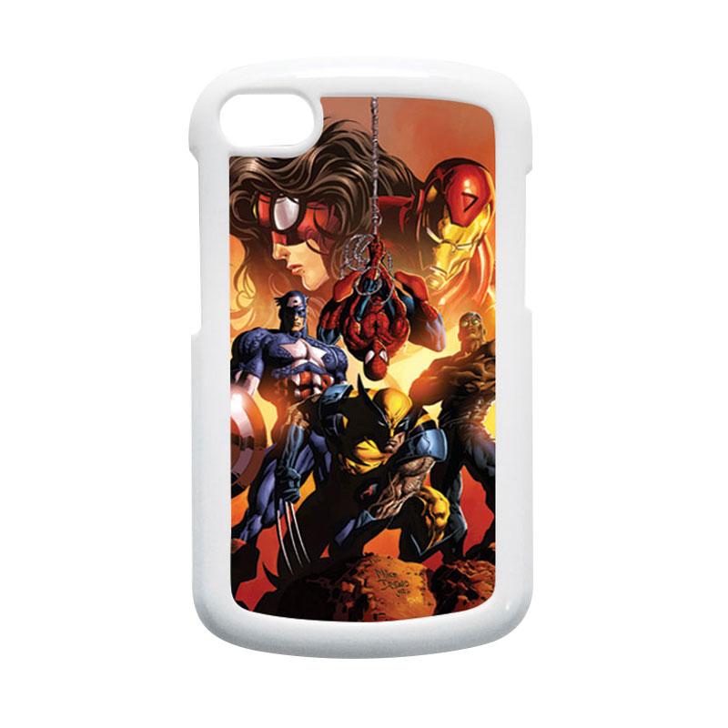 HEAVENCASE Superhero Avengers 09 Putih Hardcase Casing for Blackberry Q10