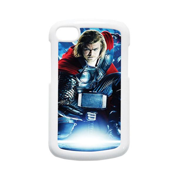 HEAVENCASE Superhero Thor 01 Putih Hardcase Casing for Blackberry Q10