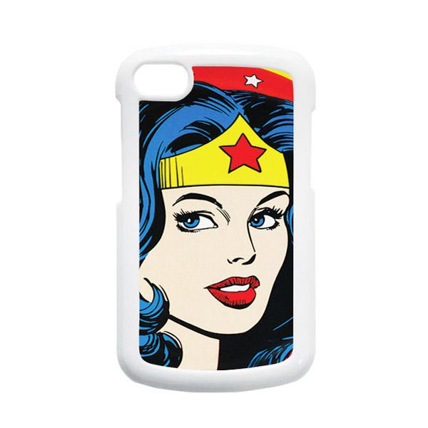 HEAVENCASE Superhero Wonder Woman 01 Putih Hardcase Casing for Blackberry Q10
