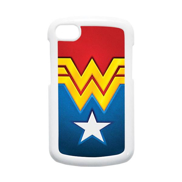 HEAVENCASE Superhero Wonder Woman 02 Putih Hardcase Casing for Blackberry Q10
